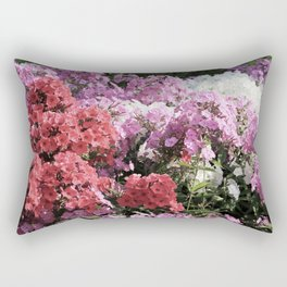 Natural city park flowers flowerbed Rectangular Pillow