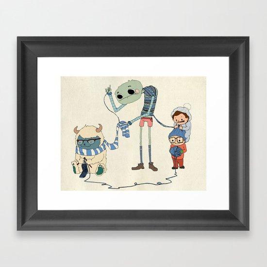 Knitting Train Framed Art Print