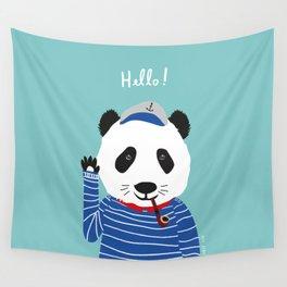 Mr. Panda Seaman Wall Tapestry