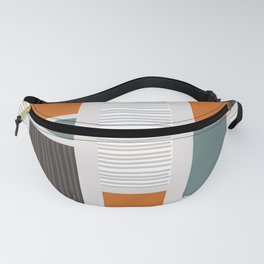 Mid Century Modern Panels Fanny Pack