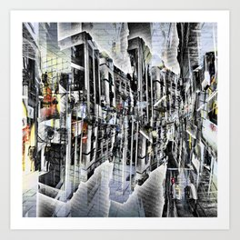 Tuesday 8 October 2013: Particularly emphasized segmentation and cohesion. Art Print