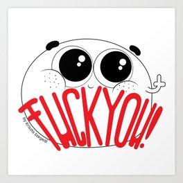 CutiePeas - Fcuk You! Art Print