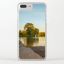 Lake Muhlenberg Shore Line Clear iPhone Case
