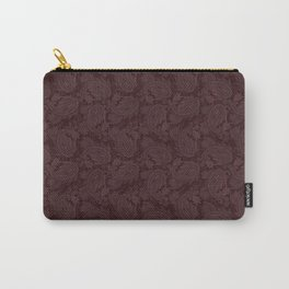 Meredith Paisley - Wine Red Carry-All Pouch