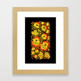 Flower Design Framed Art Print