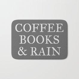 Coffee Books & Rain - Charcoal Bath Mat
