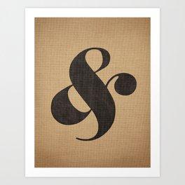 Elephant Italic Ampersand Art Print