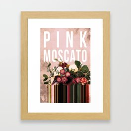 Pink Moscato in Blush Framed Art Print