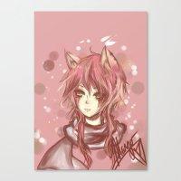 leon Canvas Prints featuring Leon by MilkNCreams