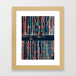 Bookshelf of Containers Framed Art Print