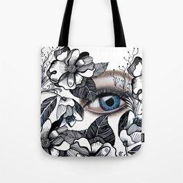 rostros y flores Tote Bag