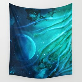 Space squid Wall Tapestry