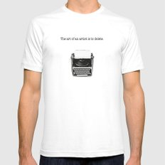 typewriter Mens Fitted Tee SMALL White
