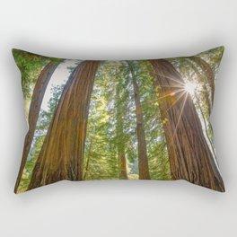 Majestic California Redwoods Rectangular Pillow