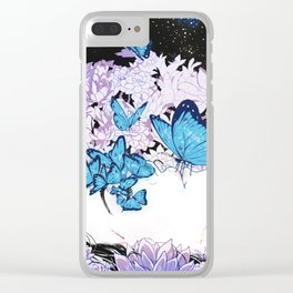 Butterflies are Terrifying Clear iPhone Case