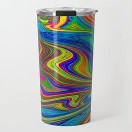 colourfull liquify background Travel Mug