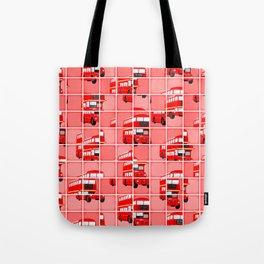 London Bus Pixel Puzzle Tote Bag