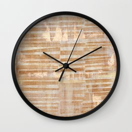 Rusty Grid Wall Clock