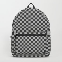 Black and White Checkerboard Carbon Fiber Pattern Backpack