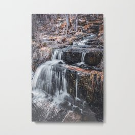 Waterfall in Spring-Minnesota Landscape Photography Metal Print