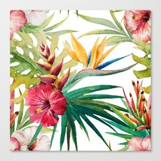 Tropical Floral Pattern 05 Canvas Print