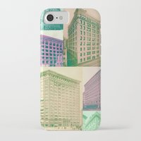 buildings iPhone & iPod Cases featuring Buildings by Sarah Brust