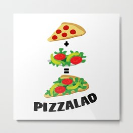 Pizzalad Metal Print
