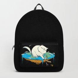 Flat Earth Cat Backpack