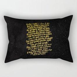 Perfect Places (Gold) Rectangular Pillow