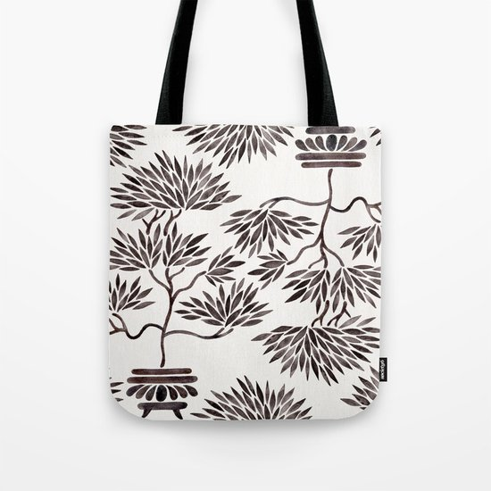 Bonsai Tree – Black Palette Tote Bag
