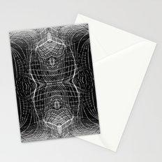 black & white waves Stationery Cards