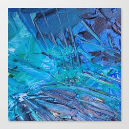 Abstract blue painting Canvas Print