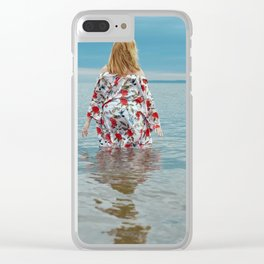 Woman in the Water Clear iPhone Case