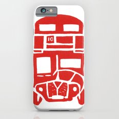 Red bus in London iPhone 6s Slim Case