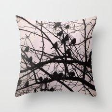 Birds Silhouettes Throw Pillow