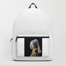 Girl with a Pearl Earring, classic painting Backpack
