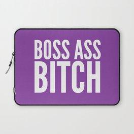 BOSS ASS BITCH (Purple) Laptop Sleeve