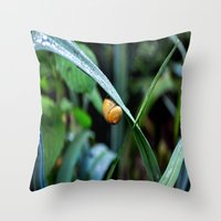 snail Throw Pillows featuring Snail by  Agostino Lo Coco