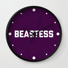 Beastess Gym Quote Wall Clock