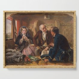 Abraham Solomon - And at first meeting loved (1855) Serving Tray