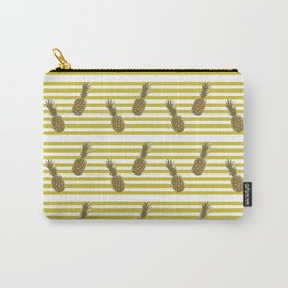 Fun with Pineapples stripes Carry-All Pouch