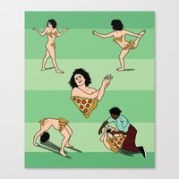 broad city Canvas Prints featuring BROAD CITY. Ilana art model by Bluetiz