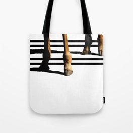 Giraffe Hooves & Stripes Tote Bag