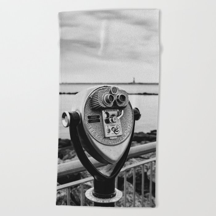 Looking At Lady Liberty Beach Towel
