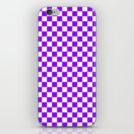 Small Checkered - White and Violet iPhone Skin