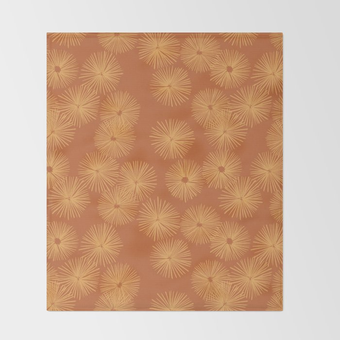 Orange Nasturtium Seamless Patten Throw Blanket