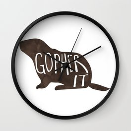 Gopher it! Wall Clock