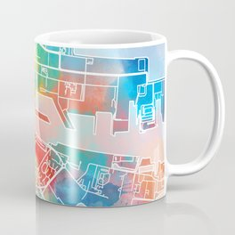 dublin map watercolor Coffee Mug