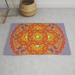 Bee Bloom Round Mandala Style Two Rug