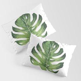 Monstera Watercolor  Pillow Sham